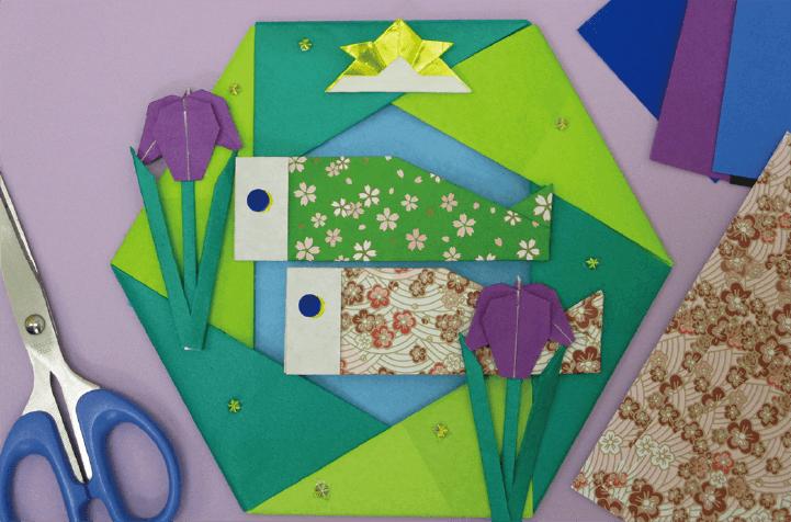 折り紙リース作りとリトミック♪